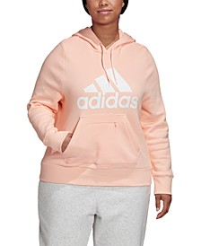 Plus Size Logo Hooded Sweatshirt
