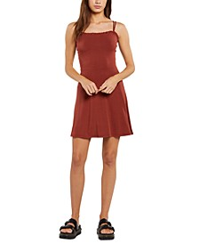 Juniors' Shred Some Rug Square-Neck Dress