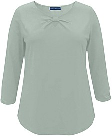 Keyhole-Front T-Shirt, Created for Macy's