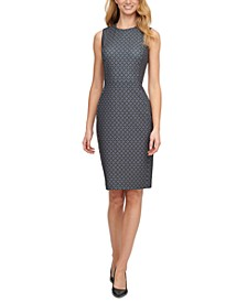 Foulard-Print Sheath Dress