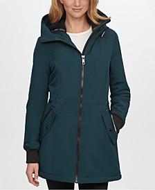 Petite Fleece-Lined Hooded Anorak Raincoat