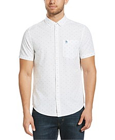 Men's Heritage Slim-Fit Dot Dobby Shirt