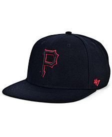'47 Brand Pittsburgh Pirates Bright Red Shot Snapback Cap