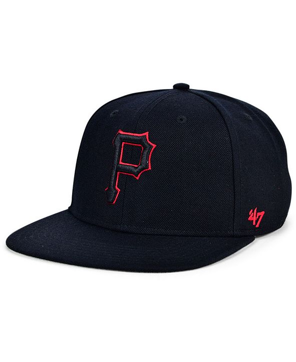 '47 Brand Pittsburgh Pirates Bright Red Shot Snapback Cap