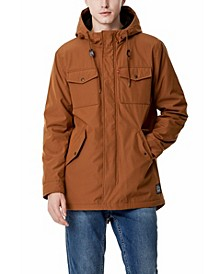 Men's Sherpa Lined Water Resistant Hooded Parka