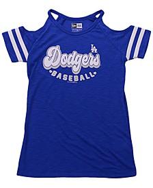 Girls Los Angeles Dodgers Cold-Shoulder Top