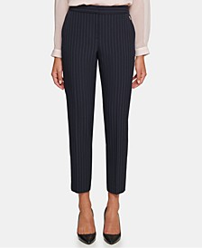 Mid-Rise Striped Pants