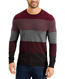 Men's Color-Block Crewneck Sweater, Created for Macy's