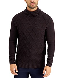 Men's Chunky Marbled Turtleneck Sweater, Created for Macy's