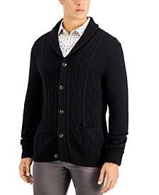 Men's Chunky Shawl-Collar Cardigan Sweater, Created for Macy's