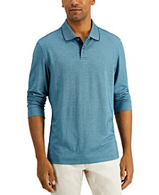 Men's Long Sleeve Polo, Created for Macy's