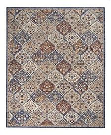 "Taza Panel TAZ03 Blue 11'6"" x 14'9"" Area Rug"