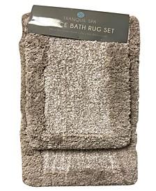 Lucia 2-Pc. Hotel Border Bath Rug Set