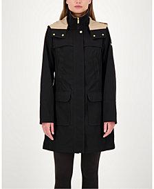 Jones New York Petite Hooded Raincoat