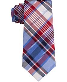 Men's Skinny Madras Plaid Tie