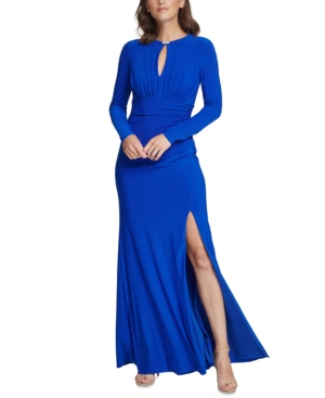 Vince Camuto KEYHOLE-CUTOUT GOWN