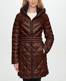Hooded Packable Shine Puffer Coat, Created for Macy's