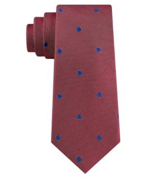 Tommy Hilfiger Men's Derby Oxford Dot Silk Tie