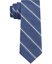 Men's Coastline Stripe Skinny Tie