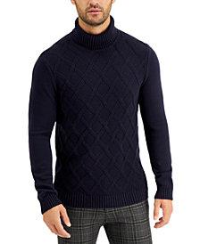 Tasso Elba Men's Chunky Turtleneck Sweater, Created for Macy's