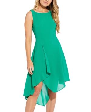 Adrianna Papell ASYMMETRICAL A-LINE DRESS