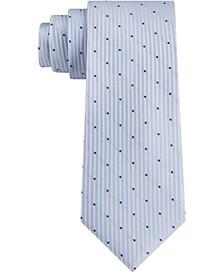 Men's Diagonal Top Dot Skinny Tie