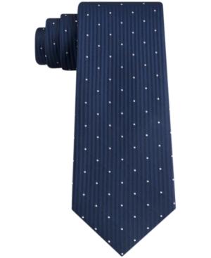 Calvin Klein Men's Diagonal Top Dot Skinny Tie