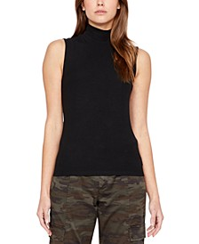 Essential Sleeveless Mock-Neck Sweater