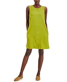 Sleeveless Round-Neck Dress