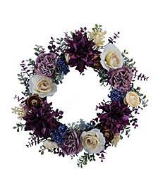 Martha Stewart Purple Eucalyptus Wreath,Created for Macy's
