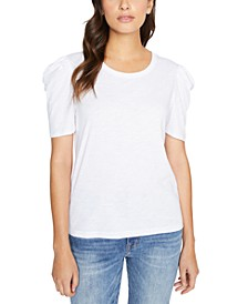 Pleated-Sleeve T-Shirt