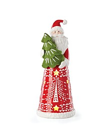 Festive Folk Light-Up Santa Figurine