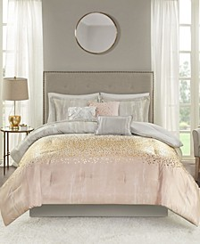 Midnight Garden 7 Piece Queen Comforter Set