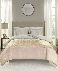 Midnight Garden 3 Piece Full/Queen Duvet Set
