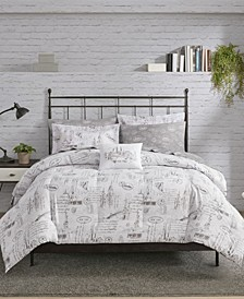 New York 8 Piece Reversible Full Bedding Set