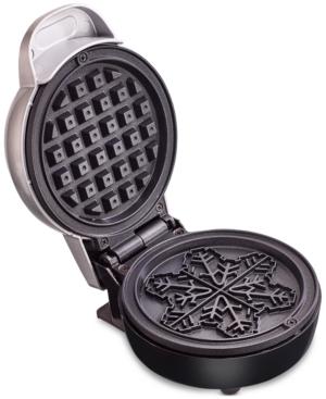 Bella Mini Waffle Maker, Snowflake Silver
