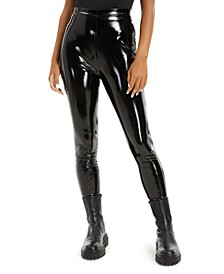 Patent Faux-Leather Leggings, Created for Macy's