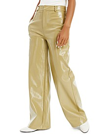 Patent Faux-Leather Pants, Created for Macy's