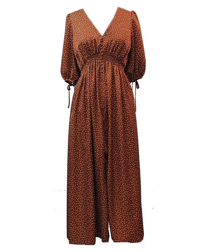 Taylor Plus Size Balloon-Sleeve Maxi Dress