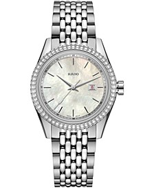 Women's Swiss HyperChrome Classic Diamond (1/3 ct. t.w.) Stainless Steel & Leather Watch Set 35mm