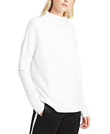 French Connection Mock-Neck Drop-Shoulder Knit Sweater