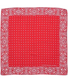 Cotton Paisley Dot Bandana