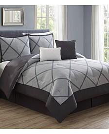 Xavier 10-Pc. Reversible King Comforter Set