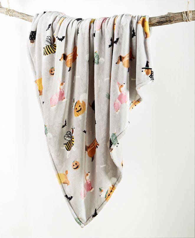 "Lacourte Halloween Dogs 50"" x 60"" Decorative Plush Throw"