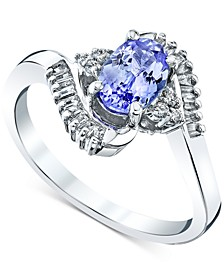 Tanzanite (1 ct. t.w.) & Diamond (1/5 ct. t.w.) Ring in 10k White Gold