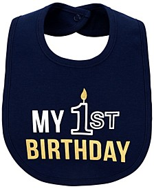 Baby Boy My 1st Birthday Teething Bib