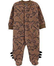 Baby Boy Dinosaur Snap-Up Fleece Sleep & Play