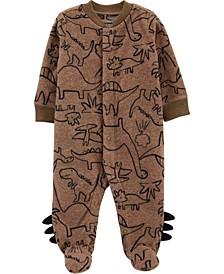 Baby Boy Dinosaur Snap-Up Fleece Sleep & Play