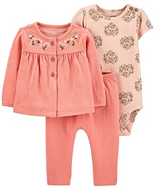 Baby Girl 3-Piece Little Cardigan Set