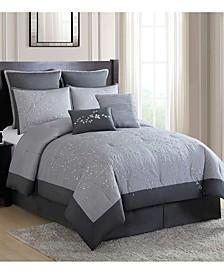 Winnie Willow Branch 8-Pc. Queen Comforter Set